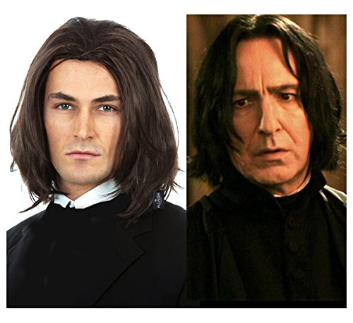 Severus Snape Costume Wig Vincent Vega Wigs Mens Cosplay Michael (Star Styled Costumes)