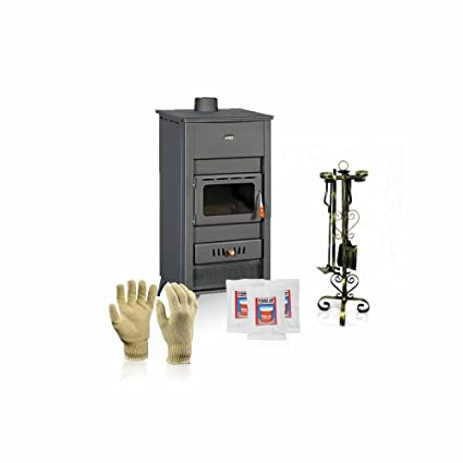 Caldera de leña estufa Prity, Modelo K2 CP W13 e, salida de calor 17