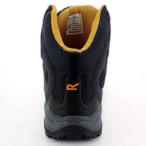 Regatta Mens Westland Mid Leather Nylon Mesh Walking Boots Grey Iron/Golden Spice