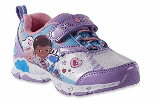 Disney Toddler Girls' Doc McStuffins Purple Light-Up Athletic Shoe (6 US Girls M -