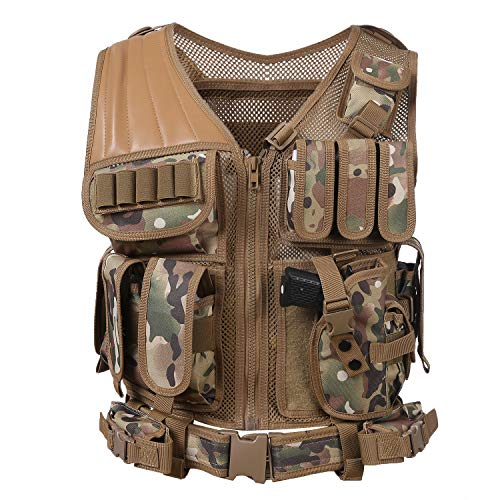 Hotsung Tactical Vest for Military Combat Training/Field Operations and Special