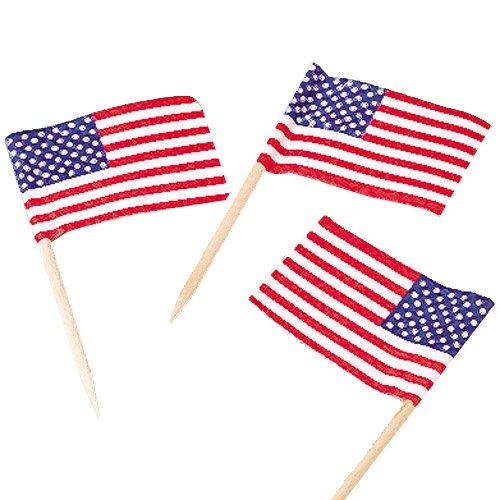 Lot Of 144 American Flag Patriotic Theme Food (144 Flags)
