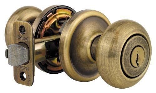 Antique Brass Al Series - Kwikset 740H 5 RCAL RCS 740H Signature Series Hancock Keyed Entry Single Cylinder Knobset, Antique Brass