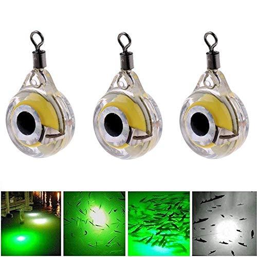 JICHUI Di piccola dimensione Luci pesca notturna fluorescente incandescenza LED subacquea luce di notte richiamo per attirare i pesci LED forniture di pesca