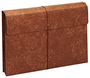 Globe-Weis Letha-Tone File Envelope with Elastic Closure, 2-Inch Expansion, Legal Size, Brown, Single Envelope (MM40)
