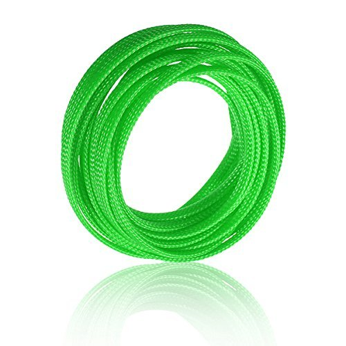 SODIAL(R)5M 4mm Expanding Braided Cable Wire Sheathing Sleeve Sleeving Harness Green