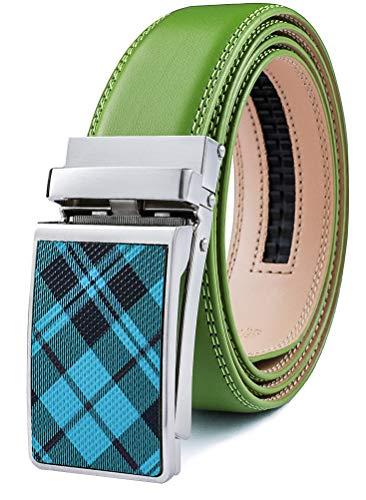 Mens Belt,Bulliant Designer Solid Click Belt For Men,Genuine Leather, Size-Customized