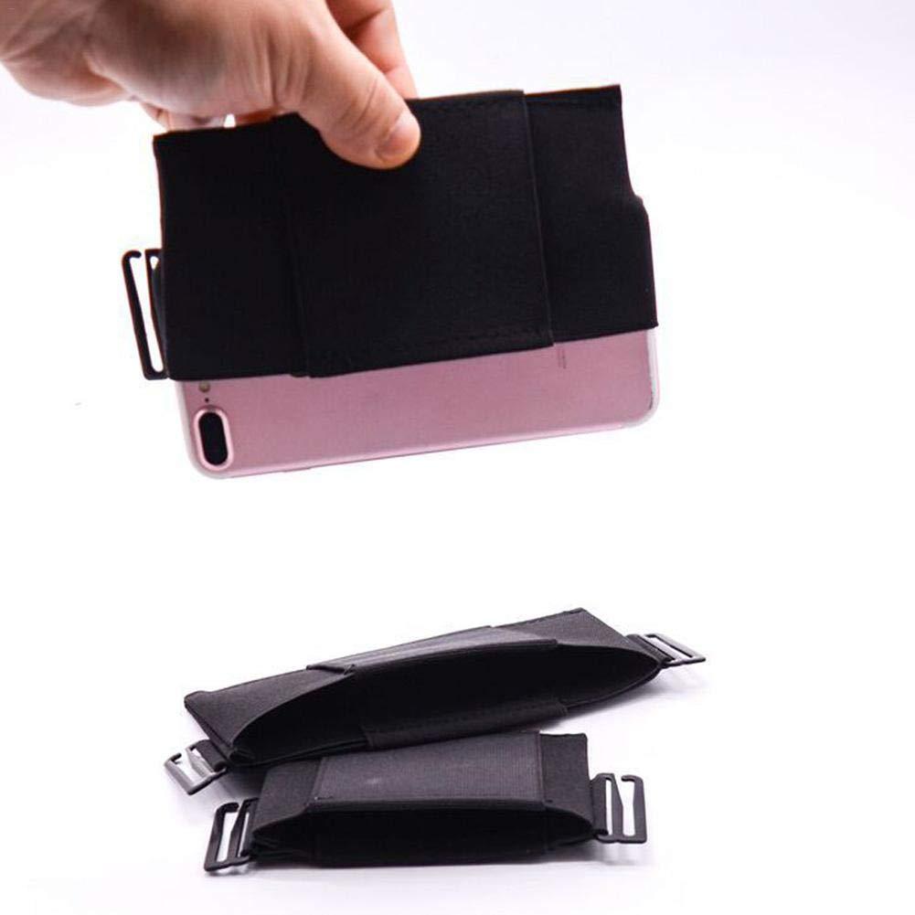 Invisible Theft Secret Wallet Ri/ñonera El/ástico Tel/éfono M/óvil Bolsa Tarjeta Bolso Invisible Wallet Negro MRlegendary Cintur/ón De Dinero De Viaje