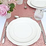 #6: TRLYC 12 by 108-Inch Luxury Glitz Wedding and Party Table Linens Sequin Rectangle Table Runner Colors Are Available