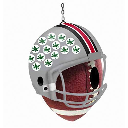 (Team Sports America Ohio State University Team Logo and Ball Hanging Birdhouse)