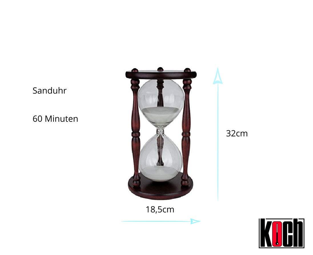 d078ecf4dc24 Koch 11000 - Reloj de arena de 1 hora (pack de 1) color marrón - rojo   Amazon.es  Bricolaje y herramientas
