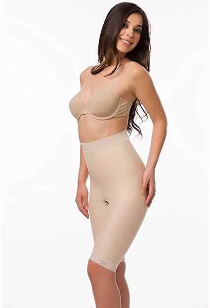 1st Stage Compression Garment W//Side Zippers Above Knee Girdle Size Small