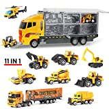 Coolplay 11 in 1 Die-cast Construction Truck Vehicle Car Toy Set Play Vehicles