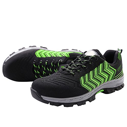 Protect Work Safety Women's Black Optimal Toe Shoes Green RqwI8Pt