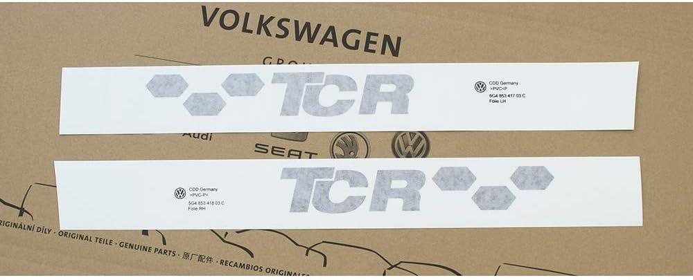Dekorfolie TCR Zierfolie Tuning Logo schwarz