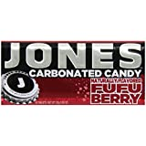 Jones Soda Candy Fufu Berry Carbonated Candy, 0.89-Ounce Tins (Pack of 12)