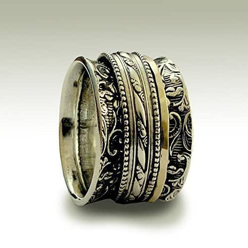 Amazon.com: Gold and silver Spinner rings on Sterling