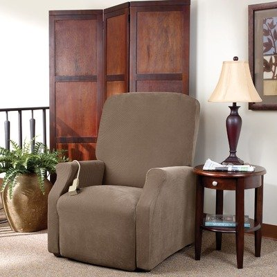 Sure Fit Lift - Large  Slipcover  - Taupe (SF38705) (Large Chair Slipcovers)