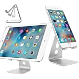 iClever Support Multi-Position en Aluminium, Support de Voyage Pliable, Support universel avec inclinaison ajustable pour Smartphones, Tablettes, E-readers, iPad, iPhone, Google Nexus 7 / 10 / 4, Samsung Galaxy Tab P5100 P3100 N8000, Sony Xperia Tablet Z S ect. Argent