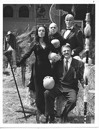 JOHN ASTIN/CAROLYN JONES/CAST/HALLOWEEN WITH THE ADDAMS FAMILY/ 7X9 ORIGINAL PHOTO A2802]()