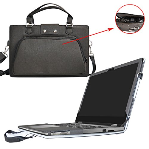 Inspiron 13 2-in-1 i7353 i7352 Case,2 in 1 Accurately Designed Protective PU Leather Cover + Portable Carrying Bag For 13.3