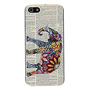 Animal Elephant Printed Durable Hard Plastic Case for iPhone 5 5s case