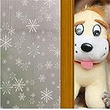EVTECH Vinyl Adhesive Free Decorative Window Film Privacy Residential Window Film Door Privacy Film 45X200CM, 17.7-by-78.74-inch ,Suitable for Dining room/Closet/Door/kitchen/university/hospital/bedrooms/children room/Garage