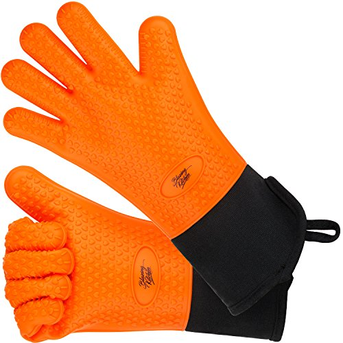 Silicone Oven Gloves Resistant Internal
