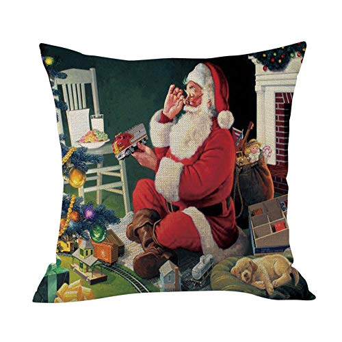 Littay Merry The Best Gift Cushion Cover Square Pillow Case Home Decor -