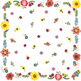 Ideal Home Range L728600 20 Count Happy Day Flowers 3-Ply Paper Luncheon Napkins, Multicolor