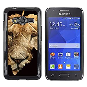 Exotic-Star ( Lion Autumn Fall Black Abstract ) Fundas Cover Cubre Hard Case Cover para Samsung Galaxy Ace4 / Galaxy Ace 4 LTE / SM-G313F