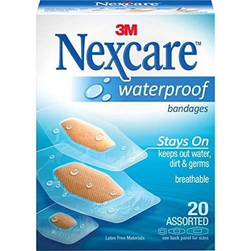 (Nexcare Waterproof Clear Bandages Assorted 20 Each (Pack of 2))