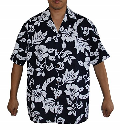 Alohawears Clothing Company Made in Hawaii! Mens Hibiscus Flower Classic Hawaiian Shirts