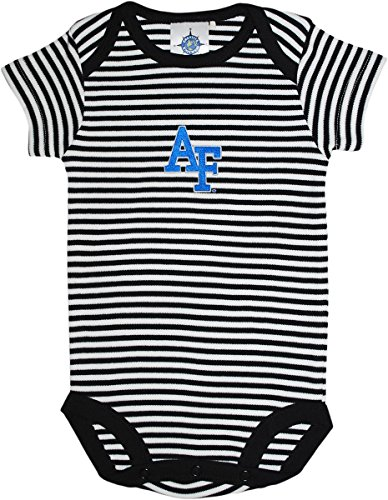 - Creative Knitwear Air Force Academy Infant Baby Striped Bodysuit Black/White