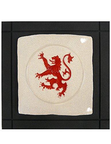 Modern Artisans Scottish Lion Rampant Ceramic Art Tile Wall Hanging, 7.5