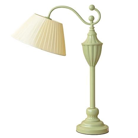 Lámpara de mesa para dormitorio de estilo rústico, cálida ...