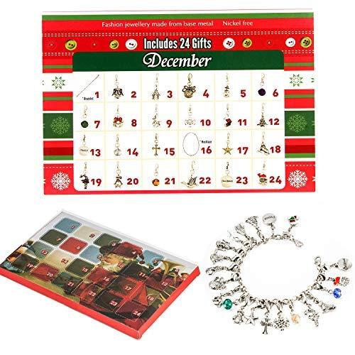 Melon Boy Charm Bracelet Necklace DIY 22 Charms Set Fashion Jewelry Advent Calendars for Kids Christmas Toy
