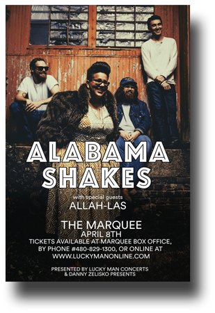Alabama Shakes Poster - Concert Promo Flyer for sale  Delivered anywhere in USA