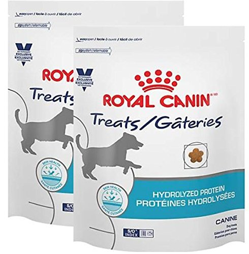 (Royal Canin Veterinary Diet Hydrolyzed Protein Canine Dog Treats, 17.6 Oz, 2 Bags)