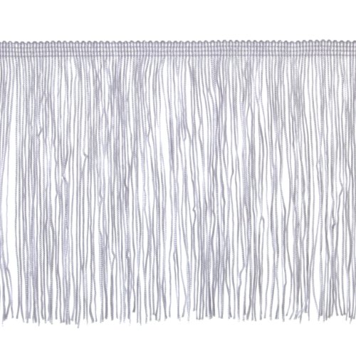 Expo International 6in Chainette Fringe Trim White Fabric by The Yard,