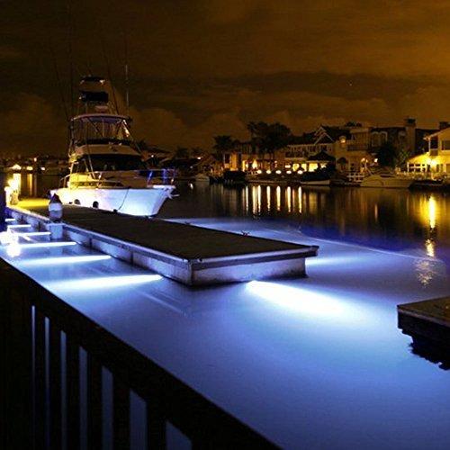 SODIAL(R) 18w White Stainless Steel IP68 Waterproof LED Marine Underwater Light Boat Yacht light