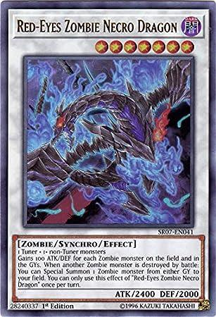 Amazon.com: Yu-Gi-Oh! - Dragón de cuello de zombie de Red ...