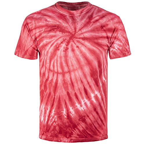 (Magic River Handcrafted Tie Dye T Shirts - Red Cyclone - Kids X-Large)
