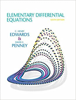 Elementary Differential Equations 6th Edition Edwards C Henry