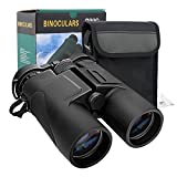 MoKo 10x42 Binoculars for Adults, Professional HD Compact Waterproof Telescope for Bird Watching Hiking Travel Stargazing Hunting Concerts with BAK4 FMC Lens and Carrying Bag - Black