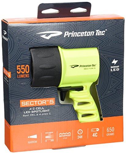 Princeton Tec Sector 5 LED Dive Light (550 Lumens, Neon Yellow)