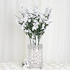 Efavormart 12 Bushes Baby Breath Artificial Filler Flowers for DIY Wedding Bouquets Centerpieces Party Home Decoration - White 1