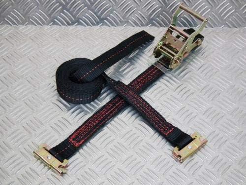 フリーク ラチェット式ブラックベルト荷締め機 レール2ton 幅50mm×長さ0.5+5m