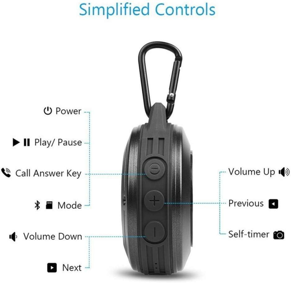 MENUDOWN Portátil con Bluetooth Altavoz Ducha 3D Estéreo Bajo Caja ...