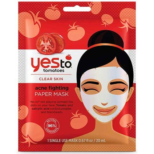 tomatoes acne fighting paper mask